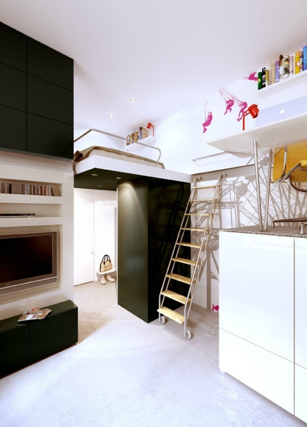 Here is another neat apartment from them.