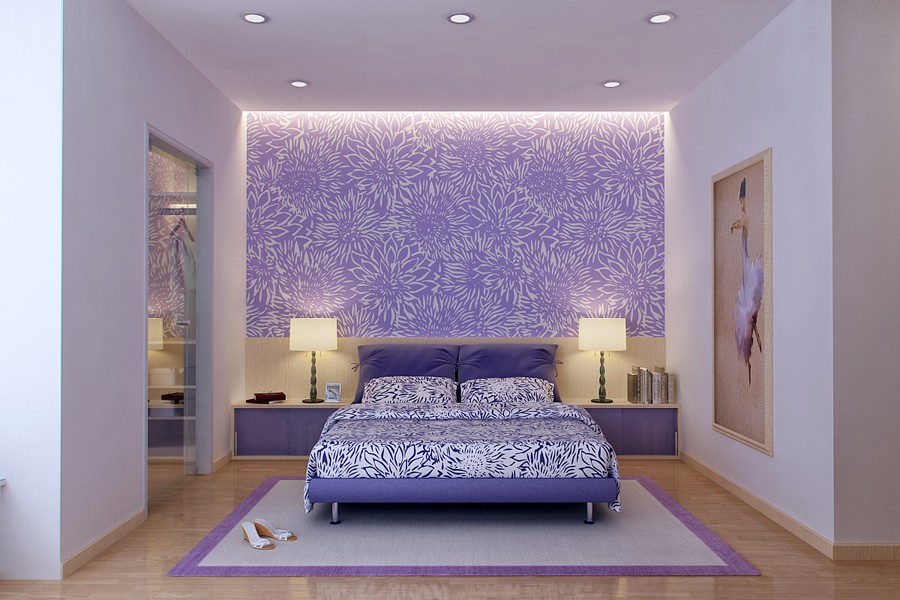 Black And White And Purple Bedroom purple bedrooms pictures - destroybmx