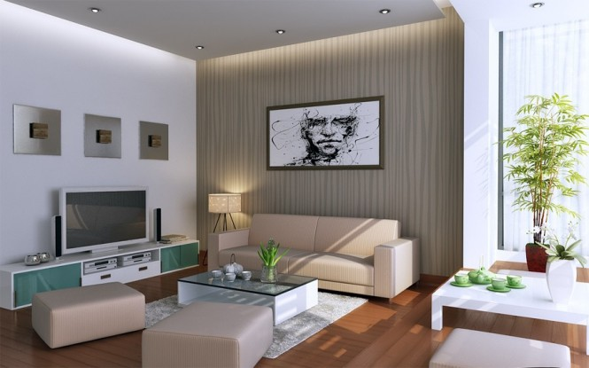 vu khoi white and beige and sage living room with glass low tables