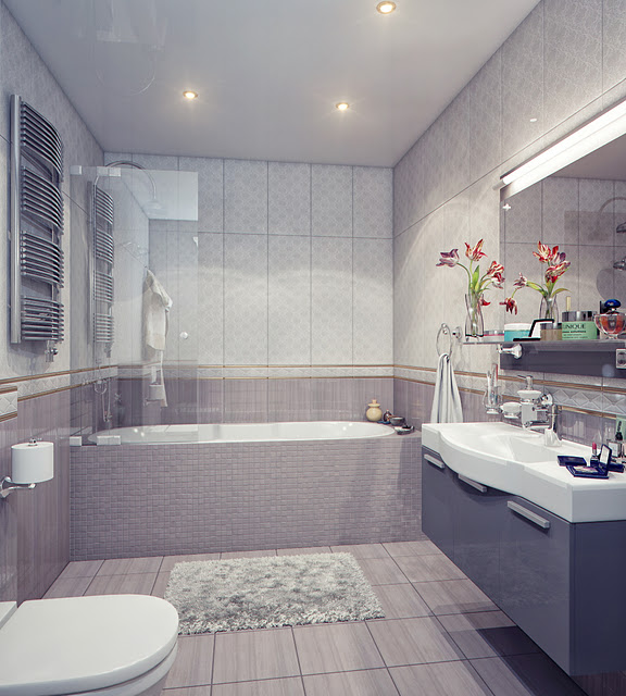 Bathtub and Sink Unit in a Modern Bathroom