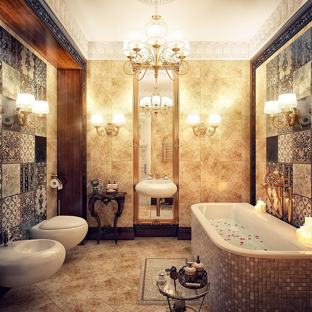 Groovy Jaw Droppingly Gorgeous Bathrooms That Combine Vintage With Modern Largest Home Design Picture Inspirations Pitcheantrous
