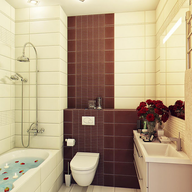 Small Warm Bathroom