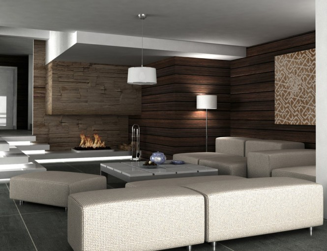 brown wooden interiors