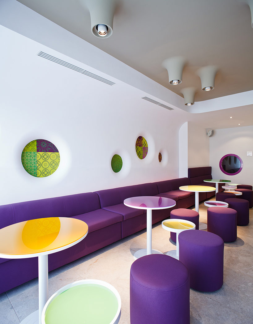 Cafe design interior design ideas for Colorful interior design ideas