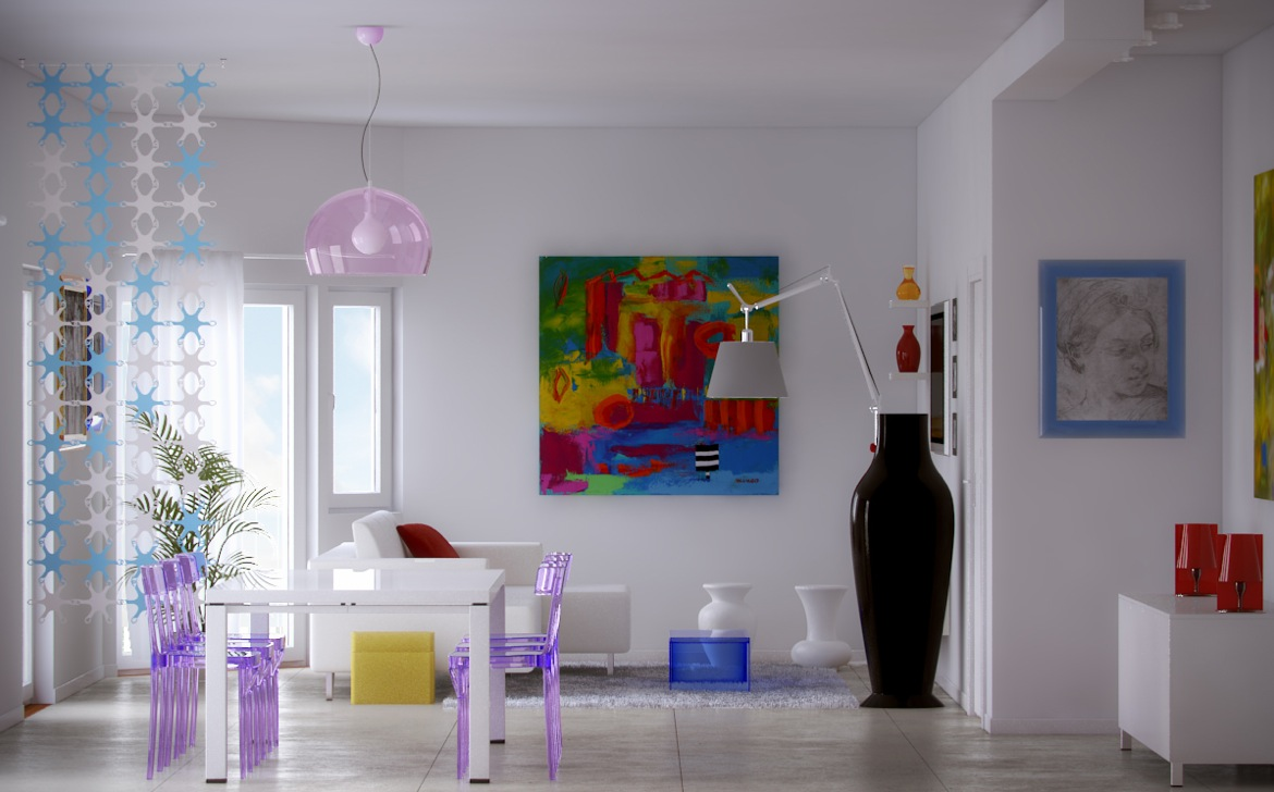 Colorful Artistically Dashing Interiors