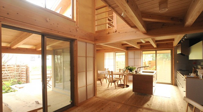 japanese wooden kitchen