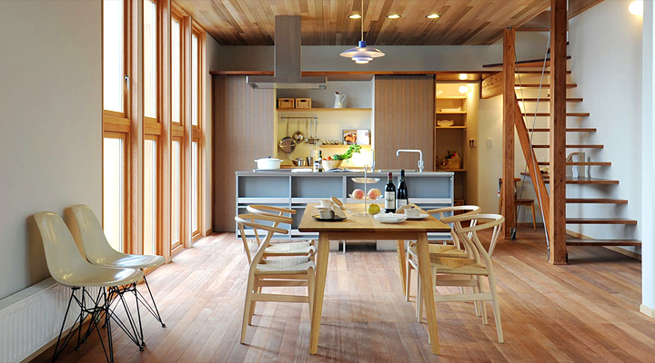 Modern japanese kitchens for Como decorar una cocina comedor