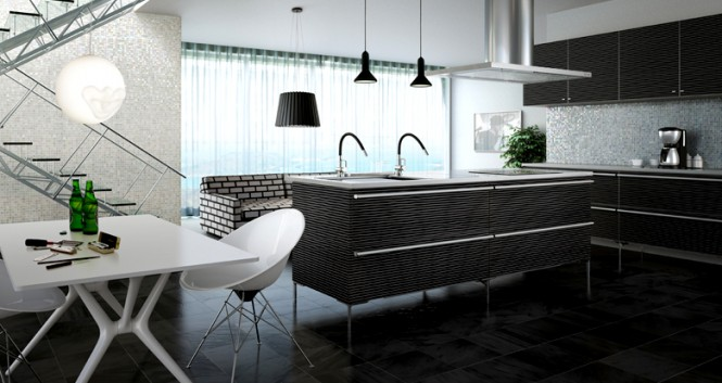 modern kitchen patterns