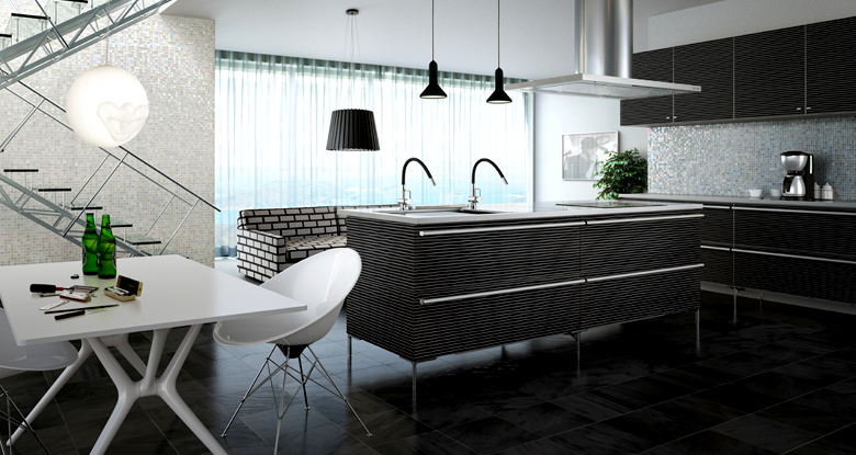 Modern japanese kitchens for Dynamic kitchen design interiors