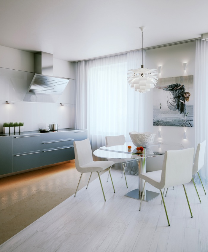 Small Apartment Dining Room Decor: Small Apartment Design In St.Petersburgh
