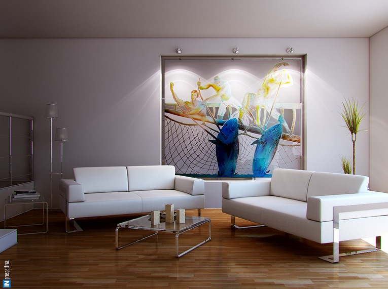 Dashing artistic interiors from pixel3d for Artistic living room ideas