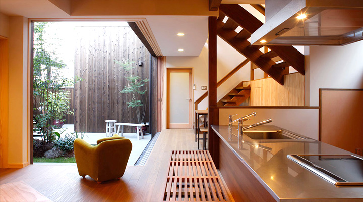 Modern japanese kitchens for Zen style kitchen designs