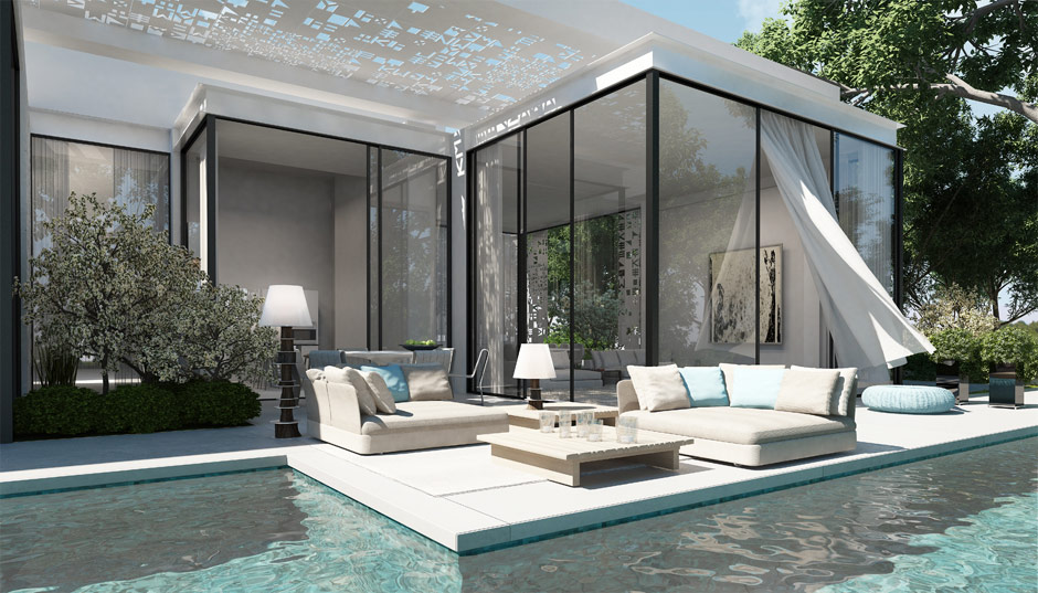Zen pool interior design ideas for Modern zen type house design