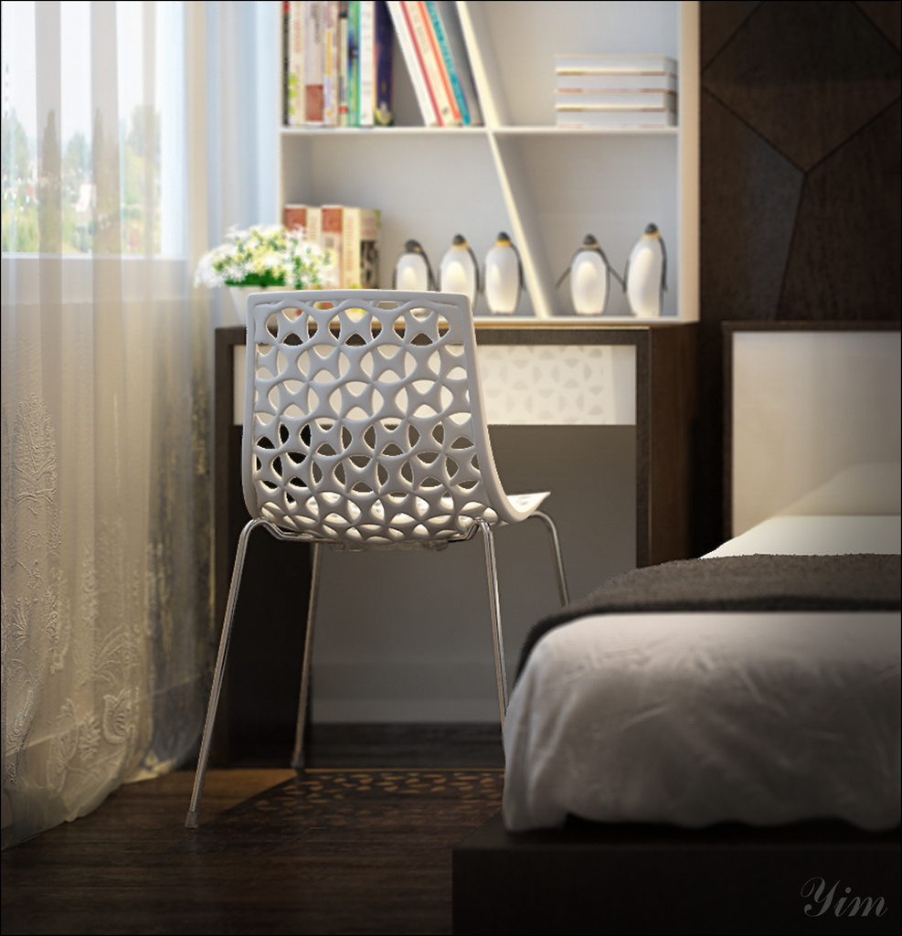 A Crochet Chair1 Warm and Cozy Rooms Rendered By Yim Lee
