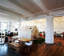 A Fun Working Space With a Tent