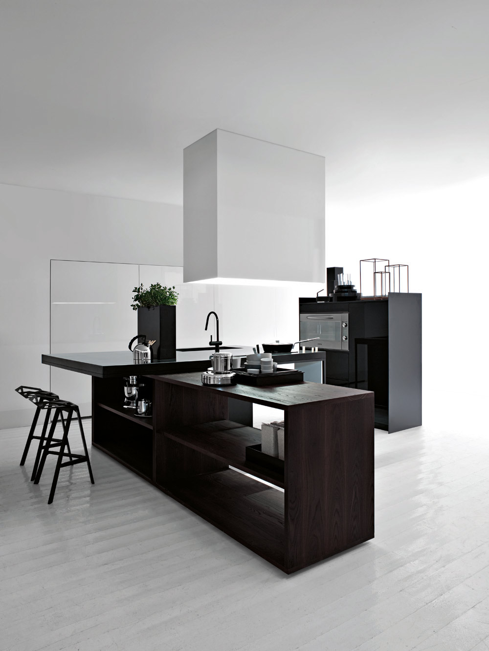 Black and white kitchen interior design ideas for Black white kitchen designs