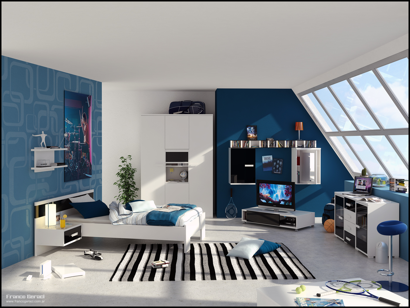 Boys room interior design ideas for Room interior design for teenagers