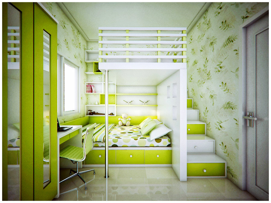 Lime Green Room Interior Design Ideas