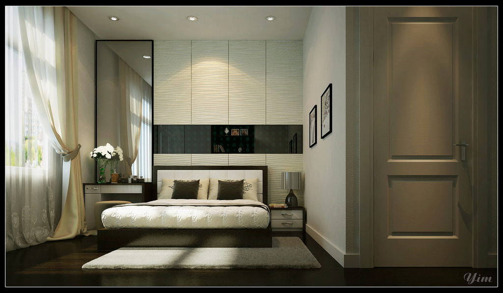 The Bedrooms In Yim Lees Renders Are Often Revolving Around A Feature