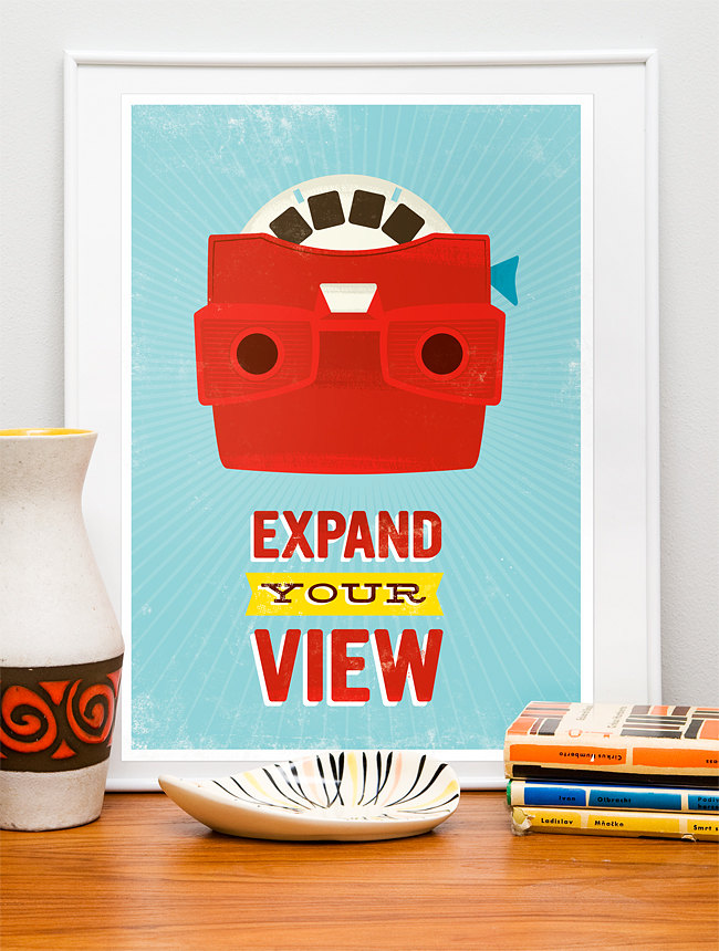 blue red poster prints