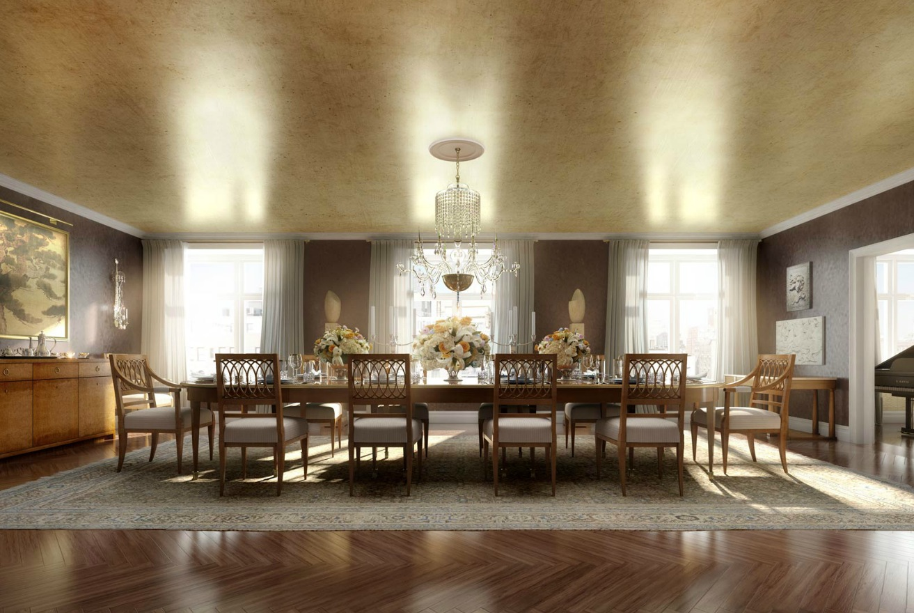Classic luxury dining room interior design ideas for Dining room interior images