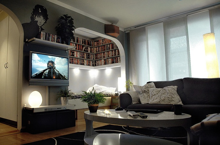 A Massive Home Entertainment Setup Design Interior And Home Ideas