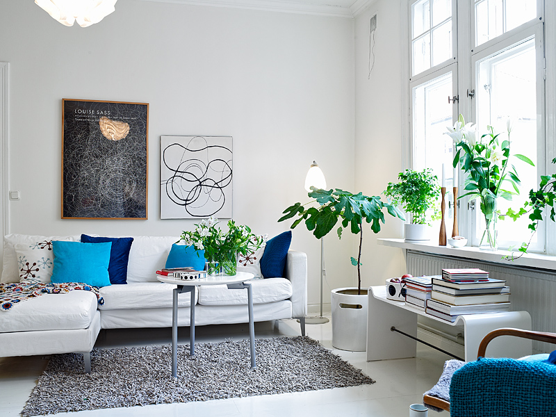 Living room plants interior design ideas for Room decor ideas with plants