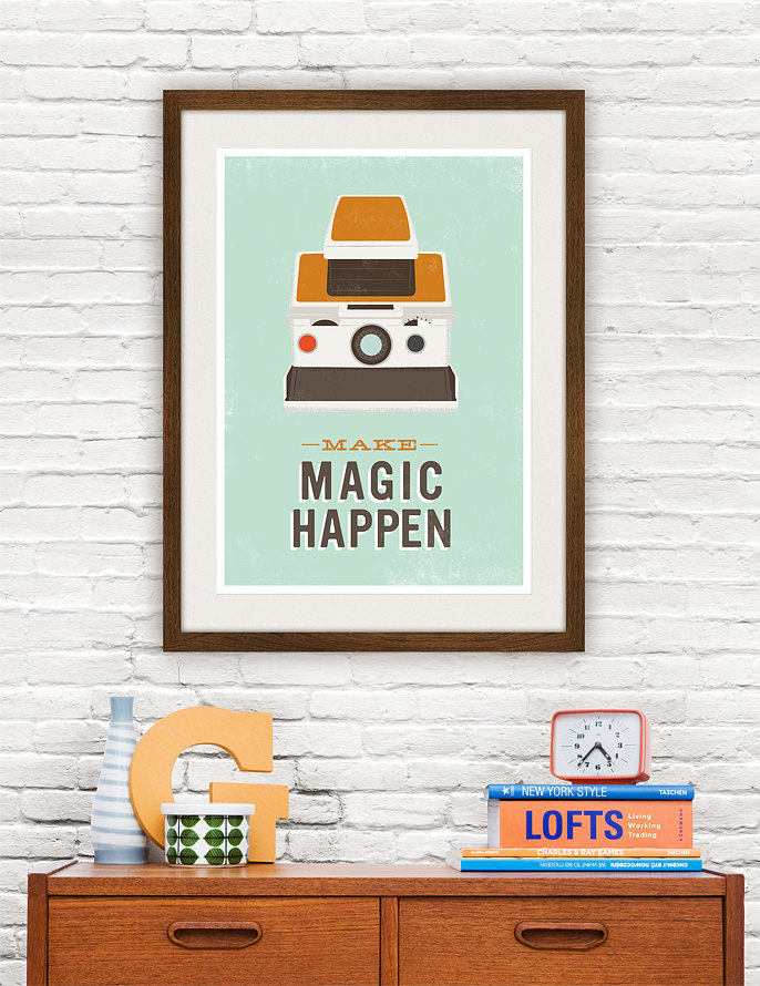 Retro poster prints for 8x10 office design