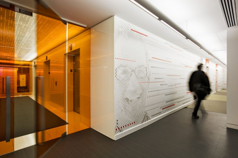Beautiful office interiors of a canadian media company for Interior decoration company