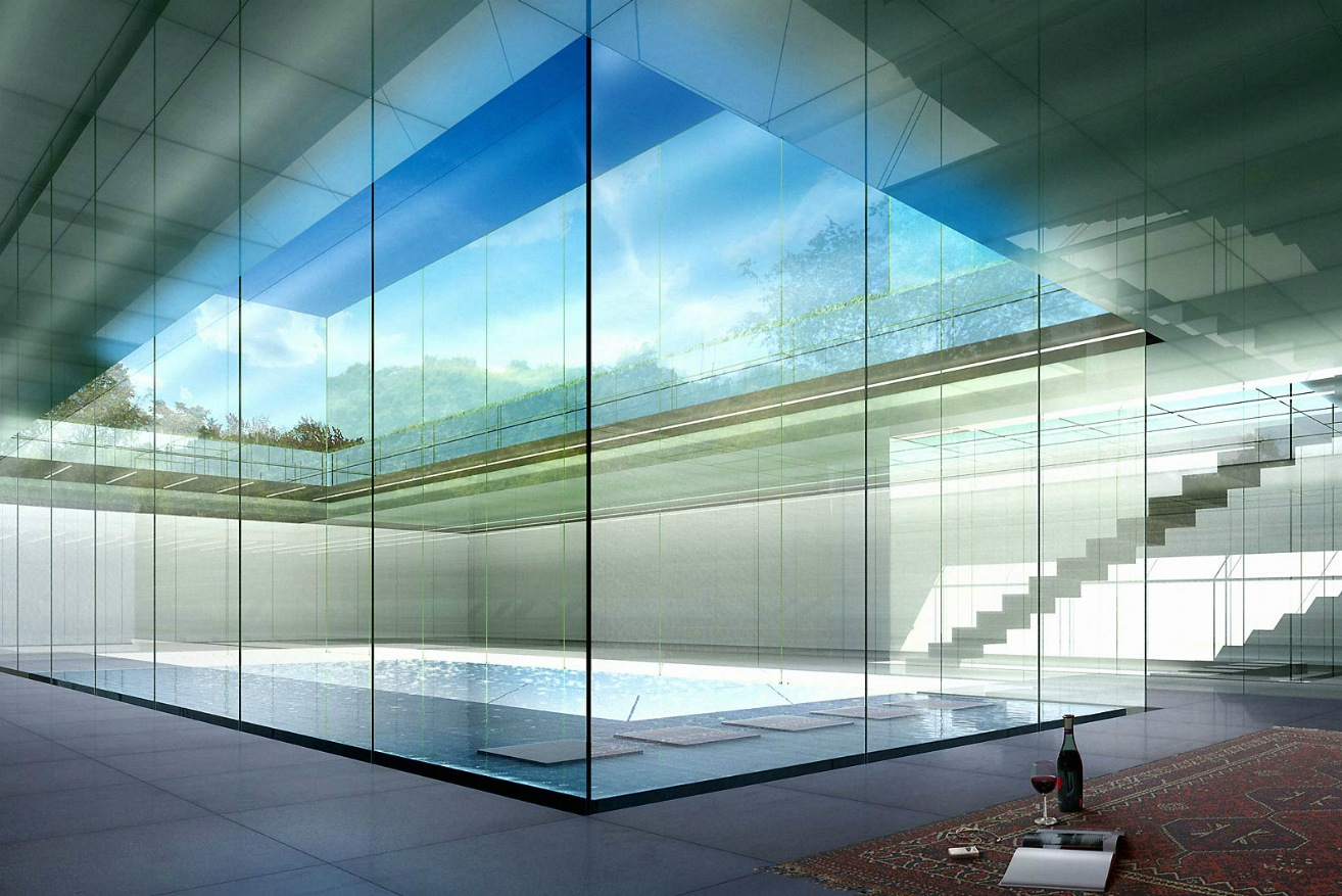 Architectural renderings by dbox for Glass walls
