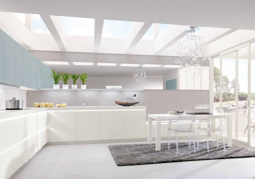 White Kitchen Interior Design sparkling white kitchen | interior design ideas.