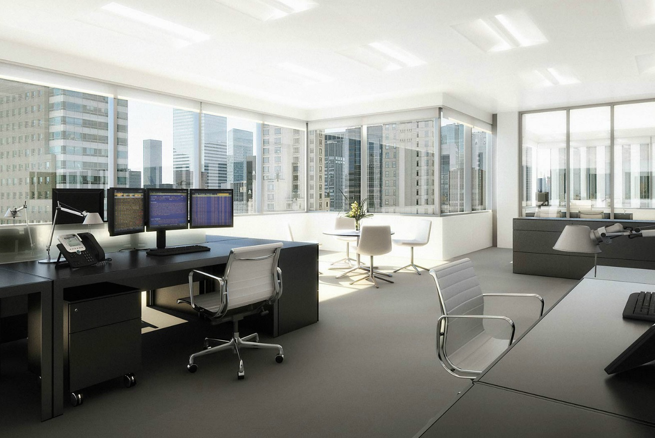Stock Broker Workspace Interior Design Ideas