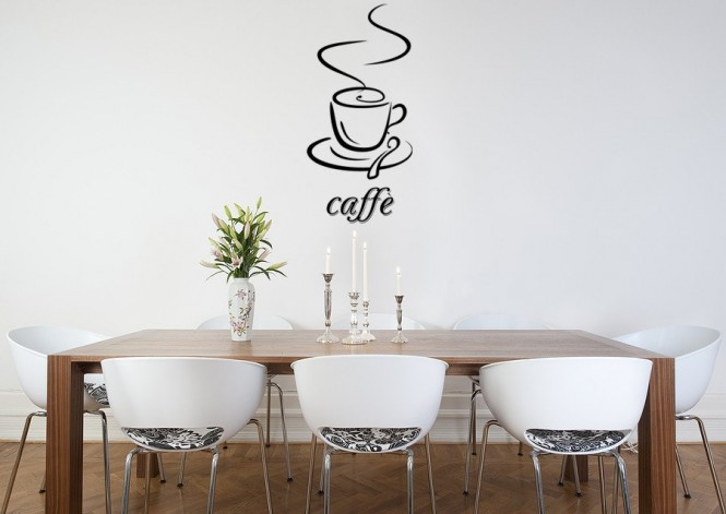 Caffe vinyl wall decal