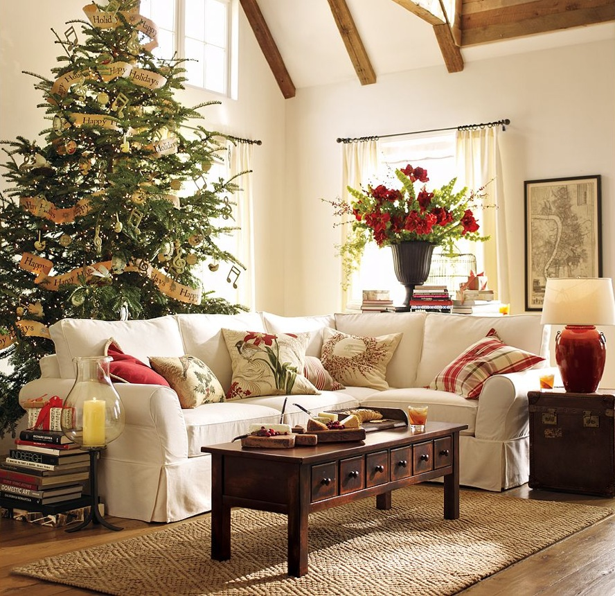Decorating tips for a modern merry christmas for Lounge living room ideas