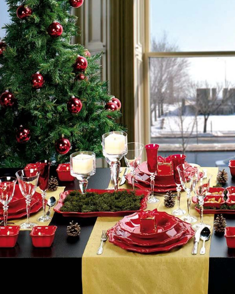 Christmas yellow  table runner runner table yellow