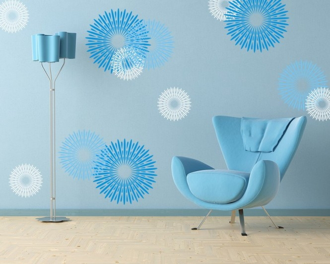 Circular design wall decals