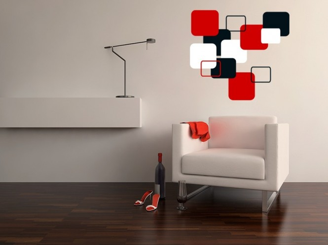 Cubist wall decals