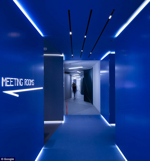 Google office space age hallway