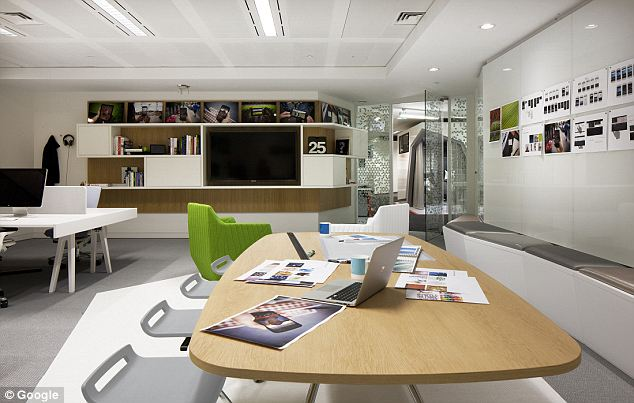 Google office space interior design ideas for Office design google