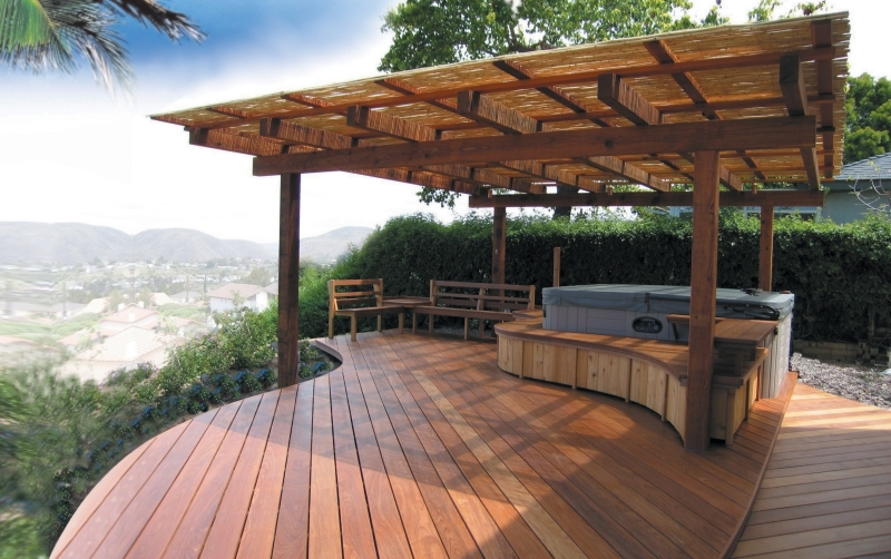 Backyard Hot Tub Patio Designs : Hot tub deck  Interior Design Ideas