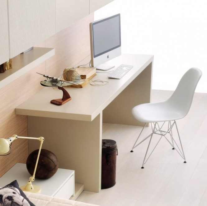 Neutral home office