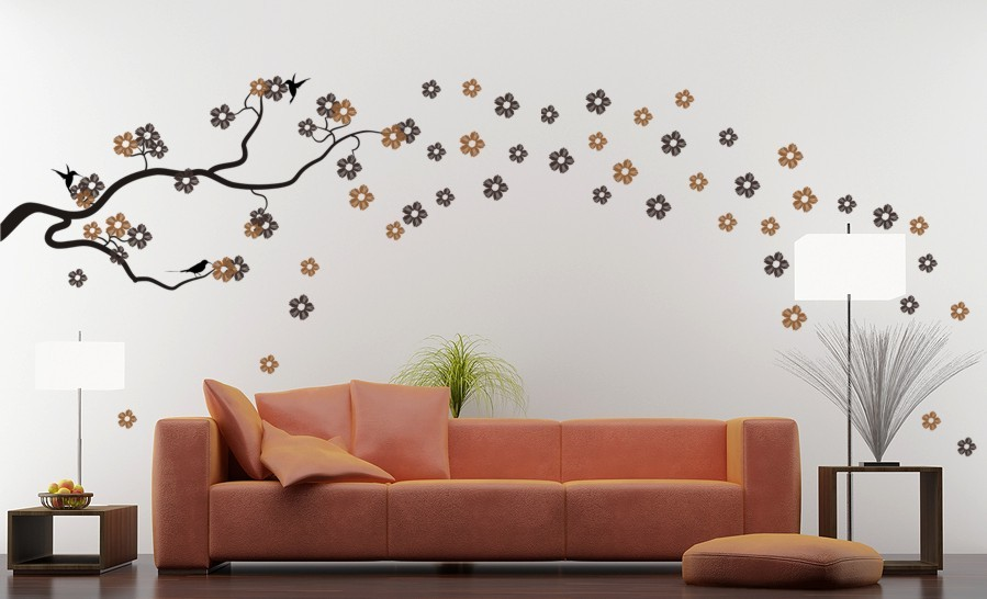 vinyl wall decals birds on branch wall stickers by parkins interiors
