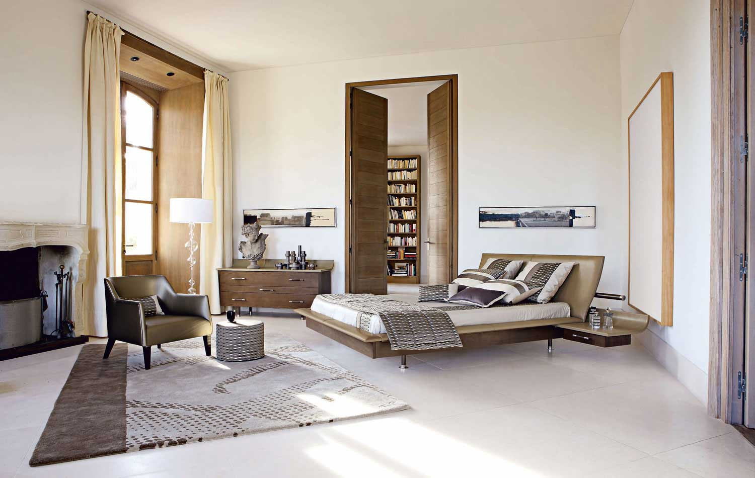 White Bedroom With Brown Furniture bedrooms from roche bobois