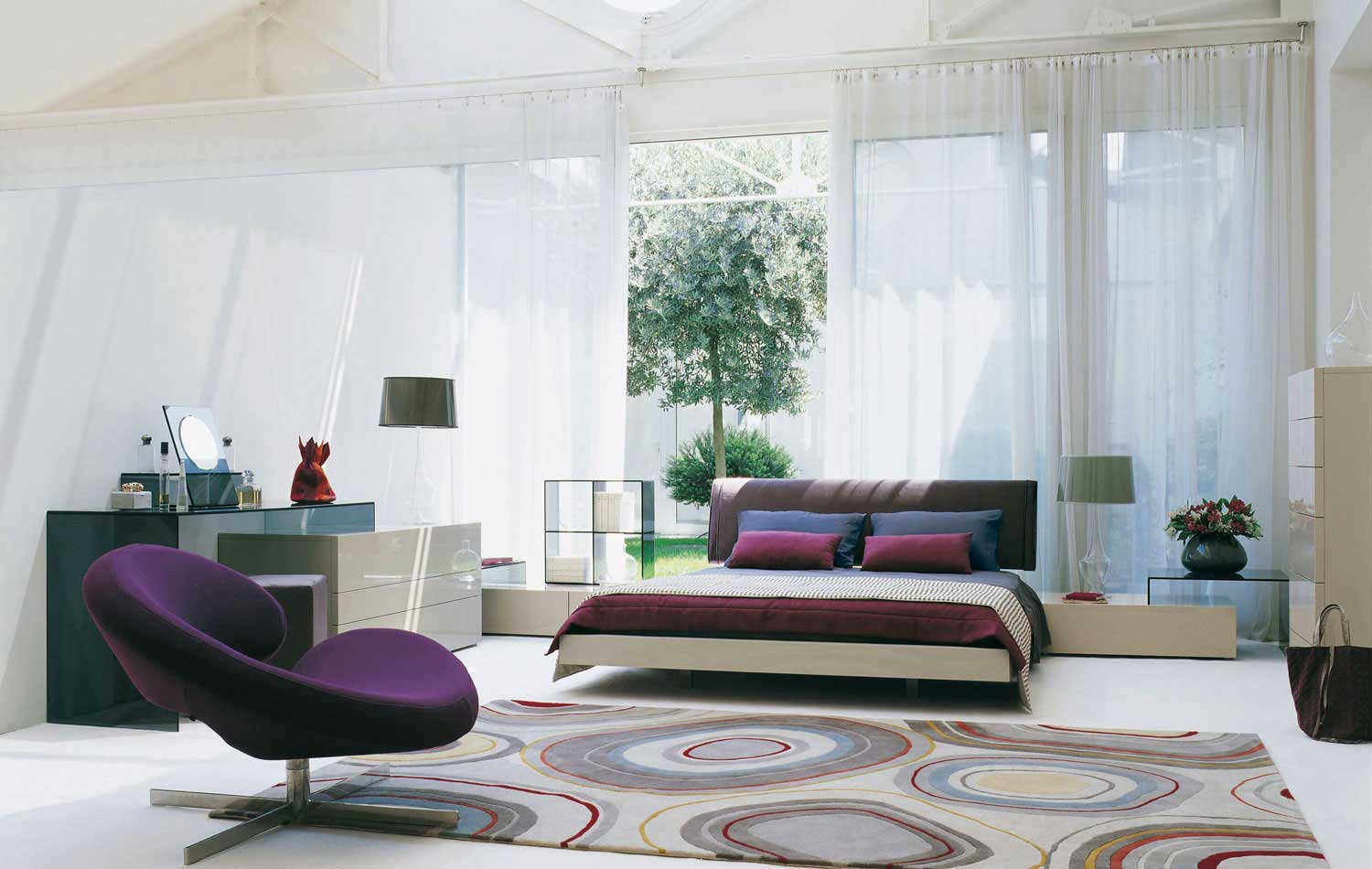 Bedrooms from roche bobois - Cortinas vintage dormitorio ...