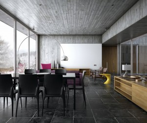 Winter house modern interior