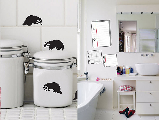 badger notepad wall stickers