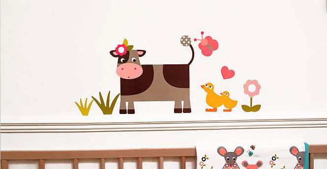 cow farmyard wall stickers