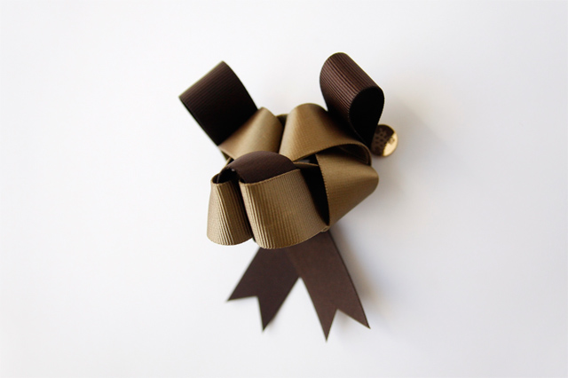 dog shaped ribbon
