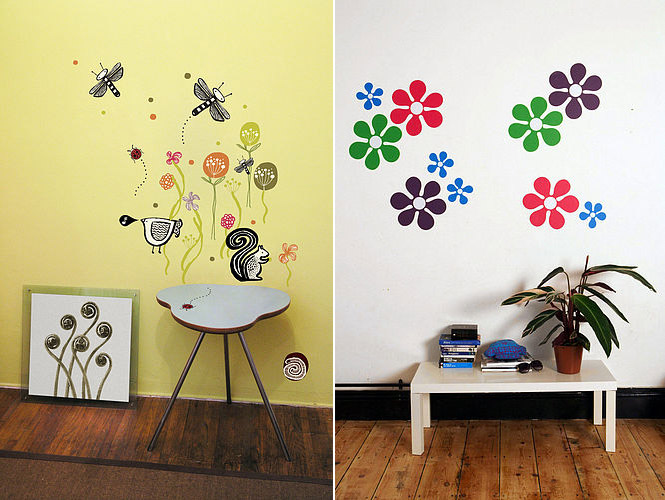 Wall Stickers Designs wall stickers designs black n white vinyl wall stikers cats 1