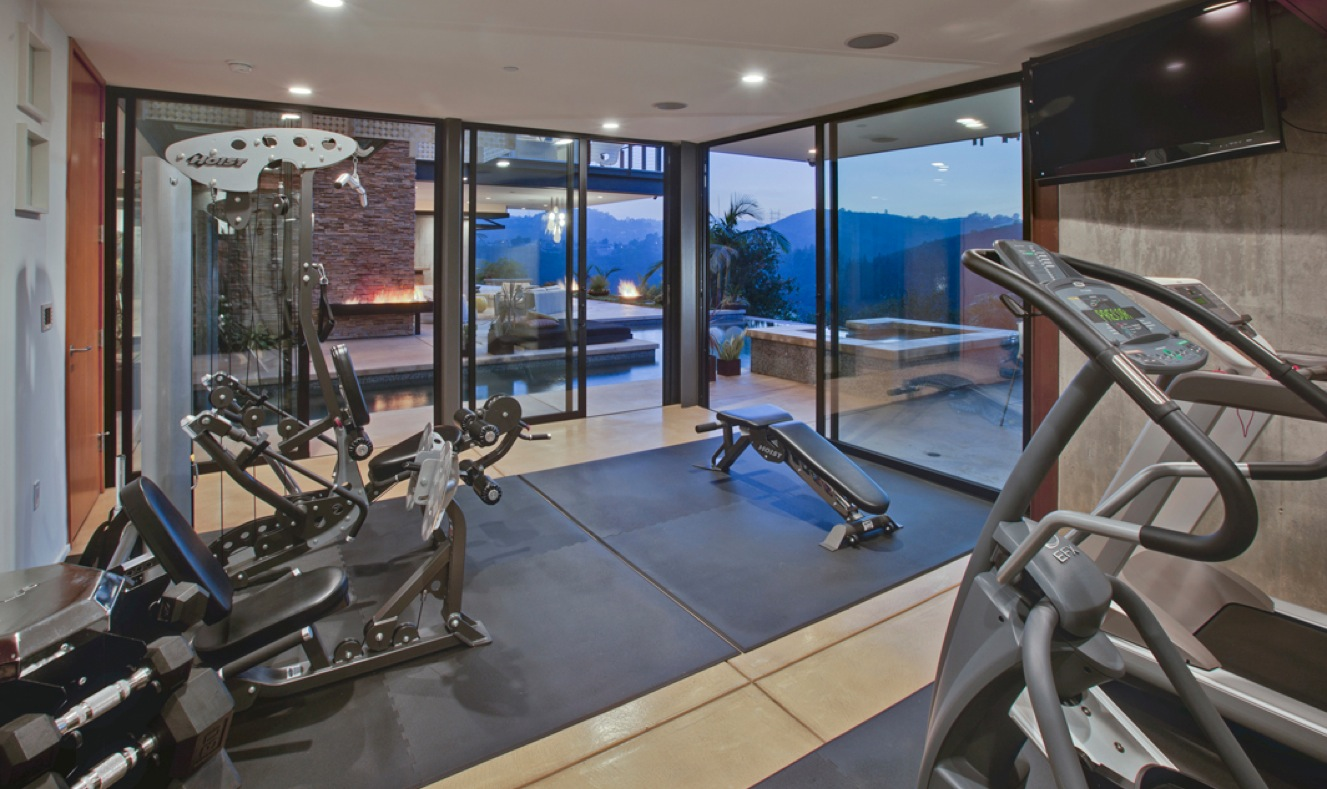 Home gym interior design ideas for Small exercise room